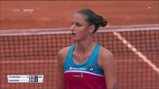 Karolína Plíšková - Maria Sakkari - 16/05/2018 - WTA Rome - Deciding Moment/Point