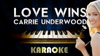 Carrie Underwood - Love Wins | Piano Karaoke Instrumental Lyrics Cover Sing Along