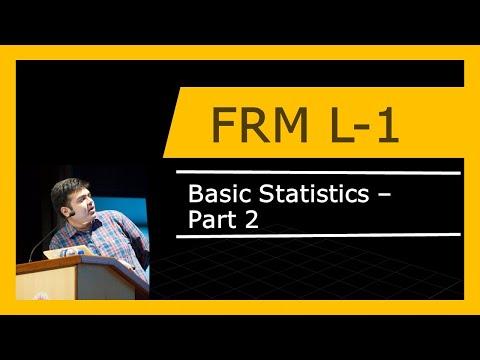 FRM Level 1   Basic Statistics   Part 2
