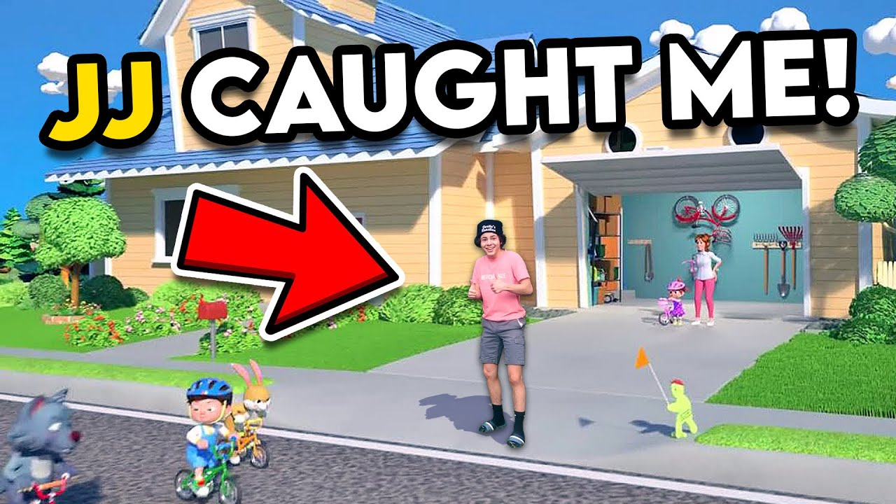 SNEAKING INTO THE COCOMELON FAMILY HOUSE!! *JJ CAUGHT ME*