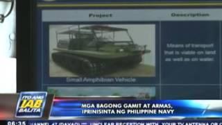 Mga bagong gamit at armas, iprinisinta ng Philippine Navy