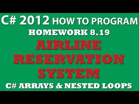 8-19 C# Airline Reservations System (C# arrays, C# loops, C# Random)