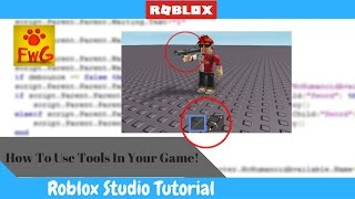 How to Put Tools In Your Roblox Game!