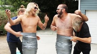 duct tape mummy wrap challenge dudesons summer of challenges