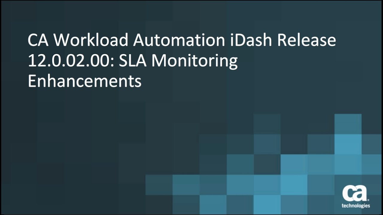 New Features - CA Workload Automation iDash - 12 0 - CA