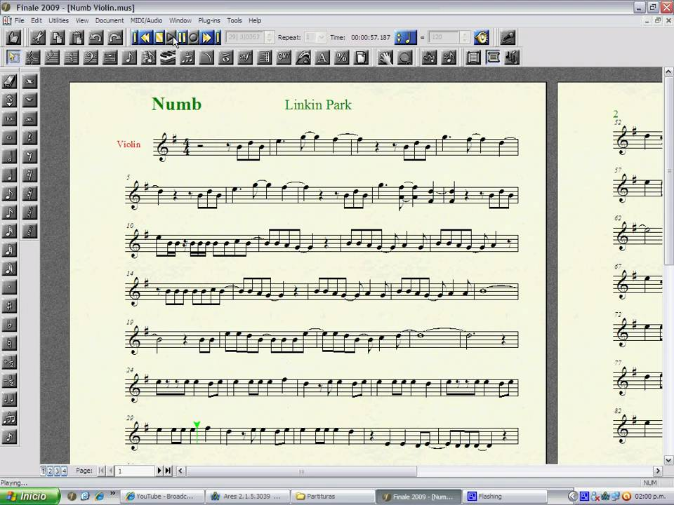 All Music Chords sheet music for river flows in you : Numb Linkin Park Sheet Music / Violin - YouTube