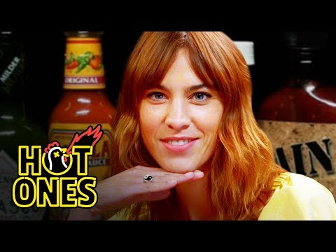 Alexa Chung Fears for Her Life While Eating Spicy Wings | Hot Ones