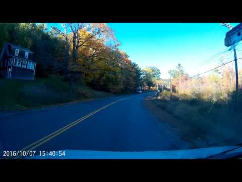 Morning drive from Sunapee, NH to  Lebanon, NH OCT-7-2017