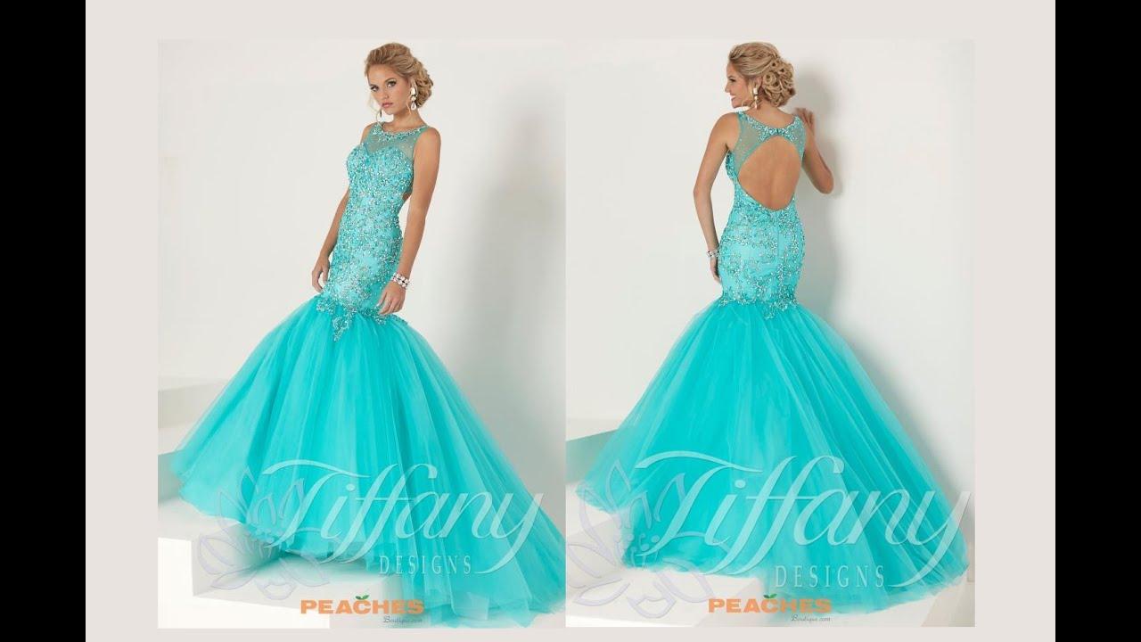 Tiffany Prom Dress 16193 - YouTube