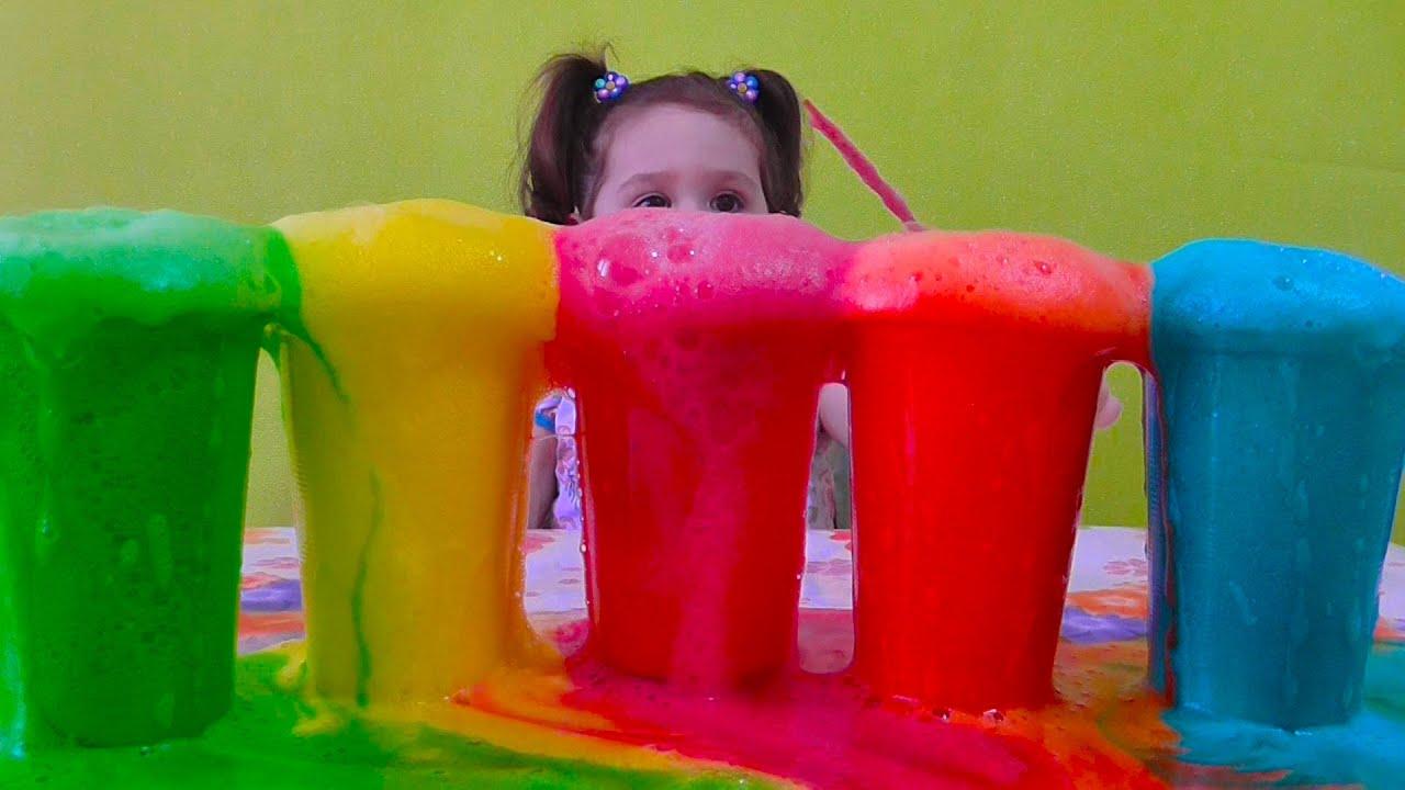 Вулкан из цветной пены. Крутой эксперимент с пеной. Интересные опыты для детей