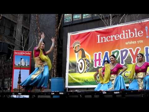 Bollywood Dancers at Holi Festival in NYC March 20, 2011