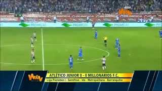 Junior vs Millonarios (0-0) Ida Semifinal Liga Postobón 2014-I