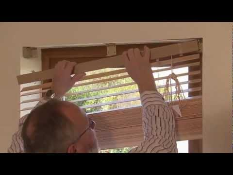 How to Measure and Fit Wooden Venetian Blinds...