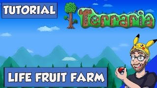 Terraria Tutorial - life fruit farm and increasing your life from 400 to 500 in Terraria