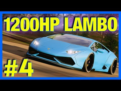 Forza Horizon 4 Let's Play : 1200HP Widebody Lamborghini Huracan!! (Part 4)