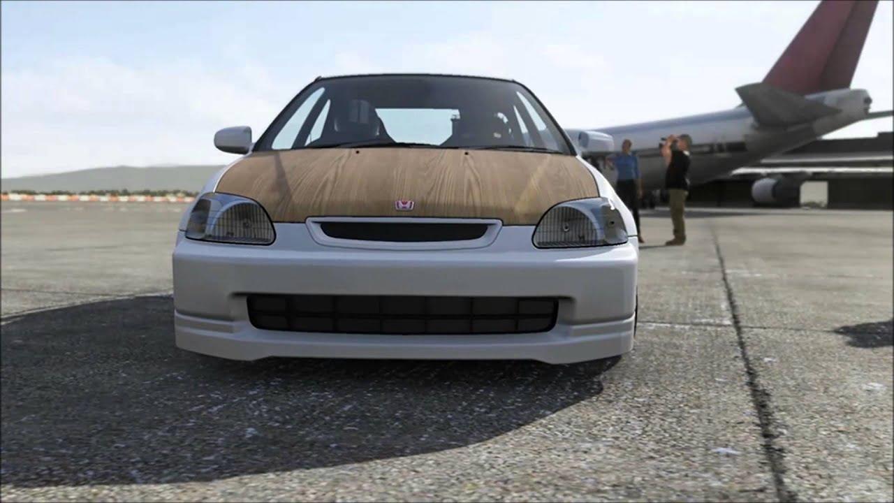 Forza 5 - 700hp Honda Civic EK Runs 10.5 (Drag Mode) - YouTube