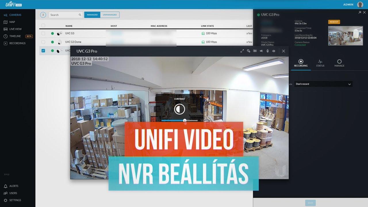 UniFi Video NVR configuration - ENGLISH SUBTITLES