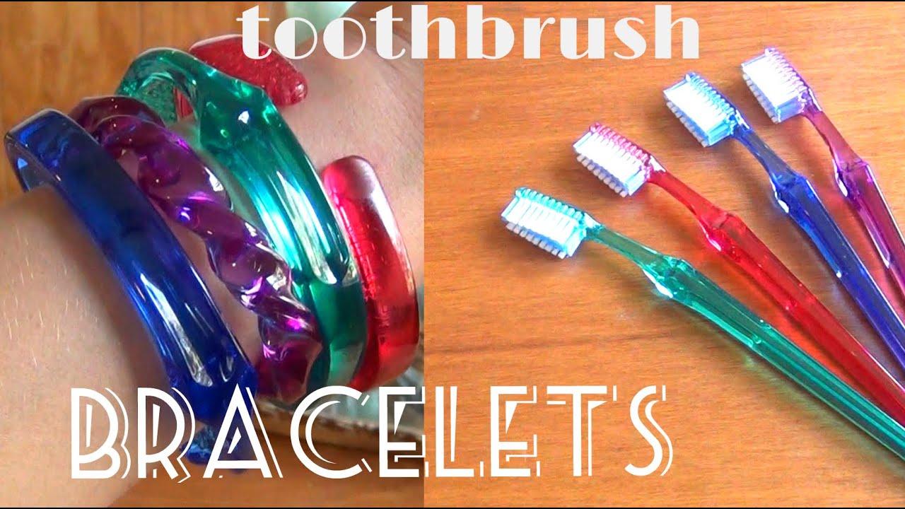 DIY Fashion ♥ Toothbrush Bracelets   YouTube