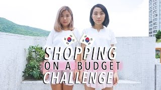 Shopping on a Budget Challenge! w/ MissGeez | 挑戰2萬5千won買套衫!