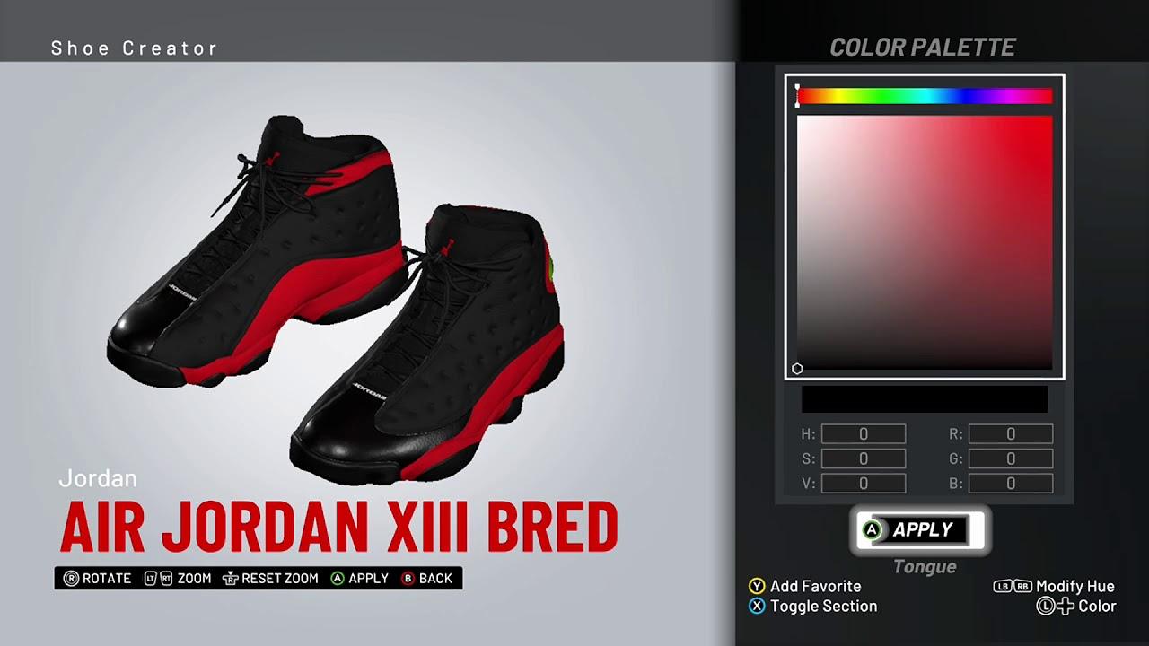 abdeb26dfcc NBA 2K19 Shoe Creator - Air Jordan 13