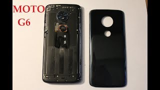 Motorola Moto G6 Play  How to replace BACK COVER