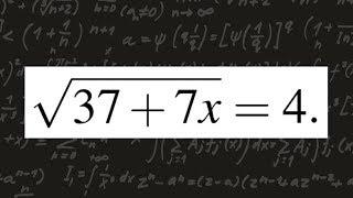ЕГЭ по математике. Профильный уровень. Задание 5. Найдите корень уравнения