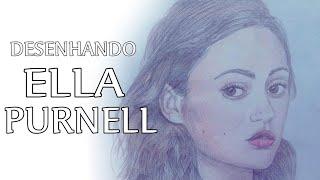 Ella Purnell - Speed Drawing/Desenhando
