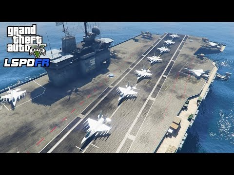 GTA 5 - Military ARMY Patrol #8 - Air Raid (Aircraft Carrier, Air Combat, Fighter Jets)