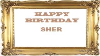 Sher   Birthday Postcards & Postales - Happy Birthday