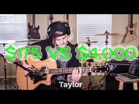 $175 VS $4,000 acoustic guitar