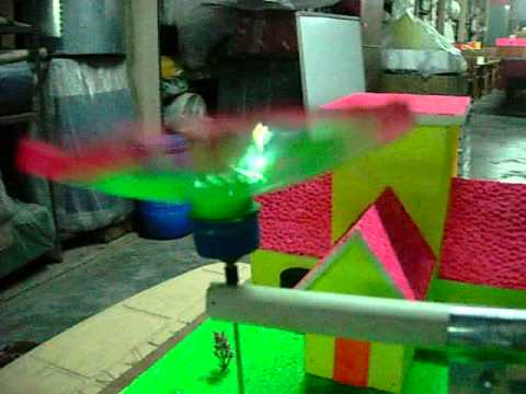 Wind powered garden sprinkler -science project & simple innovation for common man