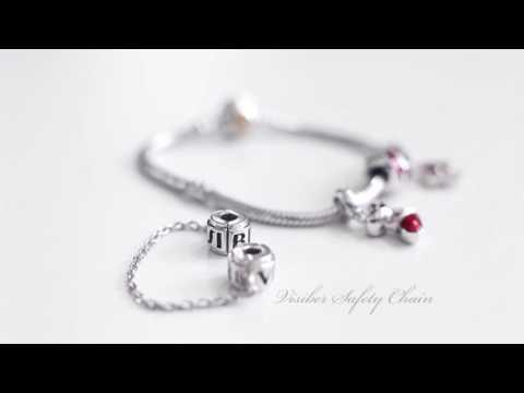 QIN Bracelet, Charm & VISIBER Safety Chain