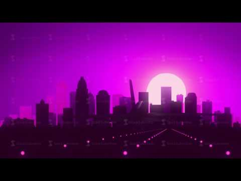 Charlotte North Carolina Violet Purple USA America Skyline Sunrise Landing