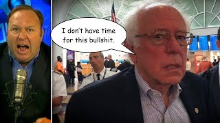 Alex Jones Follows and Harasses Bernie Sanders at LAX