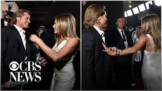 Brad Pitt and Jennifer Aniston's SAG Awards interaction goes viral