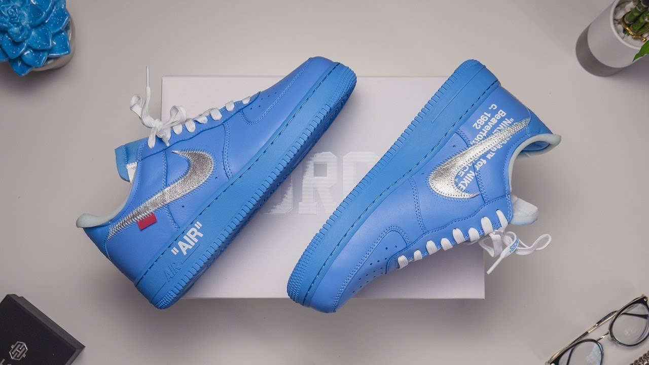 University Blue Air Force 1 Low, Off-White X Nike Review & GIVEAWAY! (ft. HelloIce)