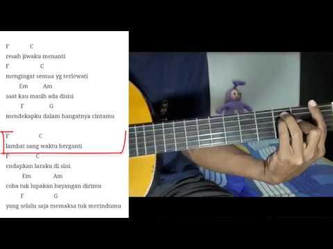 Naff terendap laraku | Tutorial kunci gitar ( Full versi )