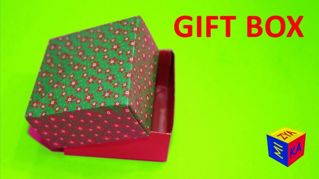 how to make a paper box for kids