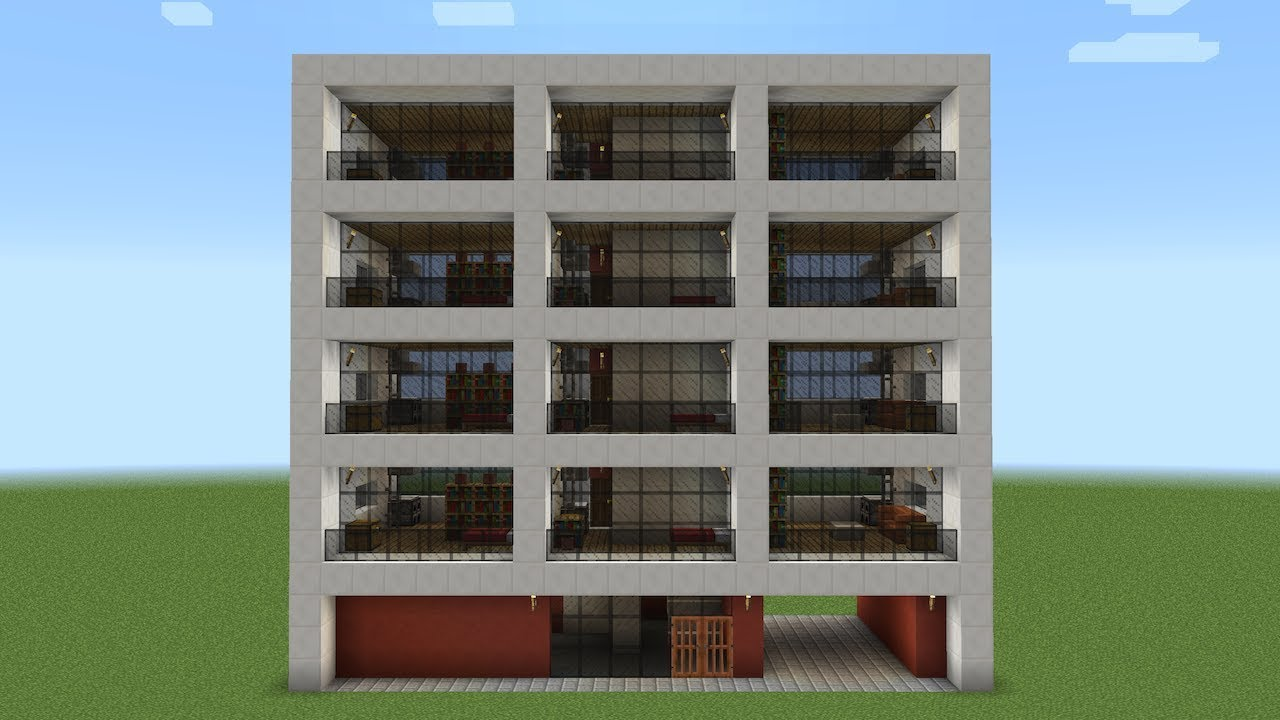 Minecraft How To Build An Apartment Building