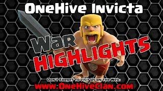 OneHive Invicta VS BarbariaNParty WAR Recap   Clash of Clans