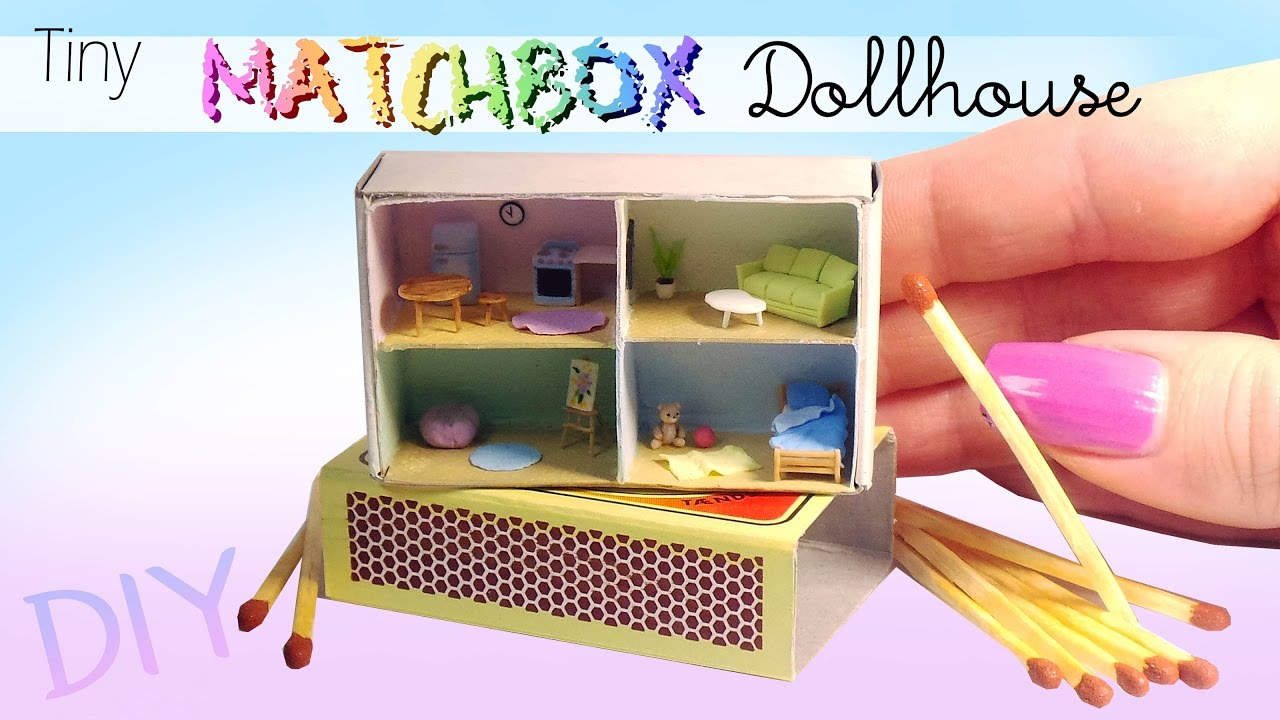 Diy miniature matchbox dollhouse tutorial youtube solutioingenieria Image collections