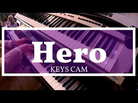 Hero (LIVE!) // Kirk Franklin // Keys Cam HD // Curtis Buell