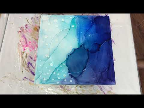 83 | Blue Resin Mystery Project Part 2 | Alcohol Ink and Resin