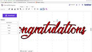 Brother scan-n-cut canvas-Arbeitsbereich-tutorial erstellen der Grußkarten Glückwunsch