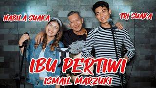 Ibu Pertiwi - Ismail Marzuki  Lirik  Live Akustik By Nabila Suaka Ft. Tri Suaka