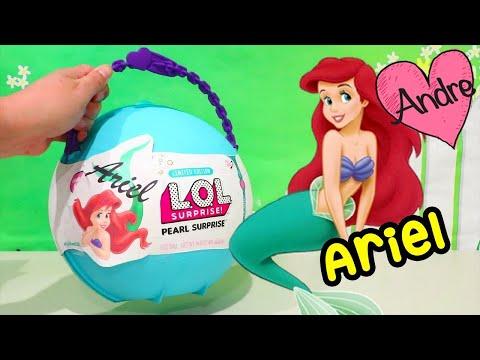 LOL Big Surprise DIY de Ariel La sirenita | Muñecas y juguetes con Andre para niñas y niños
