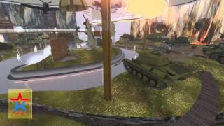 """видео: Новый Музей танков Кубинка парк """"Патриот"""" - визуализация"""