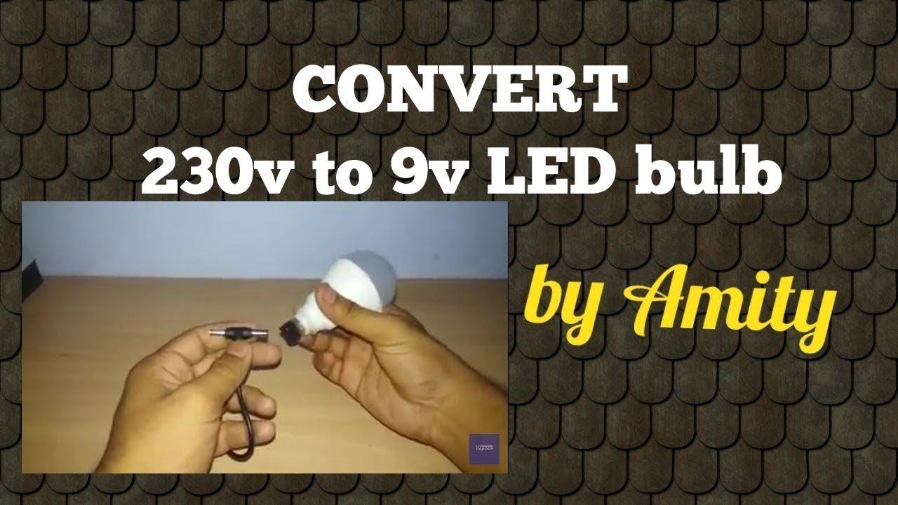 convert 220v ac led bulb into 12v dc led bulb