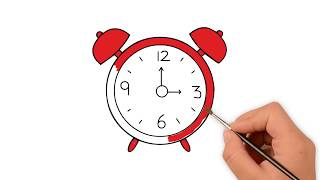 How to draw an alarm clock  - How to draw funny cartoons