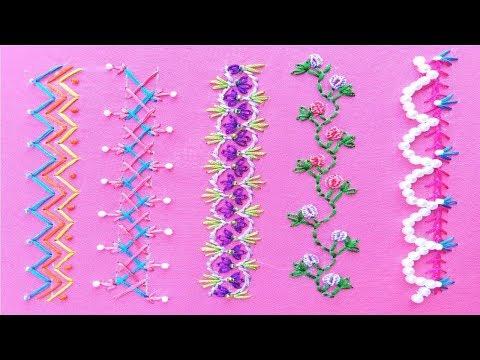 Nice Hand Embroidery, Bead embroidery, New Borderline Embroidery , हाथ की कढ़ाई, হাতের কাজ 2020
